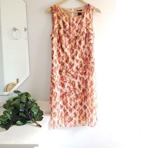 Ann Taylor Orange Blush Sleeveless Dress Size 10